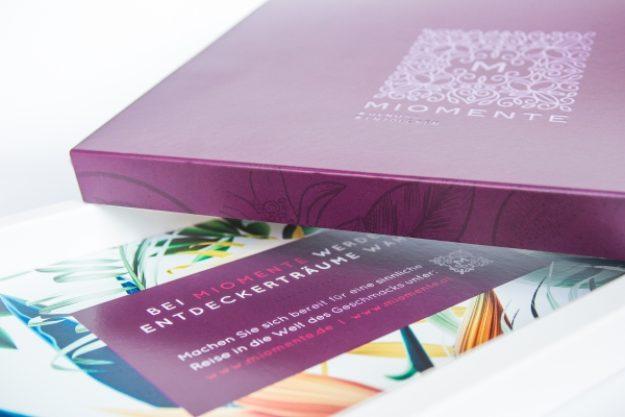 Weinseminar-Gutschein –Geschenkbox veredelt mit einer schimmernden Heißprägefolie