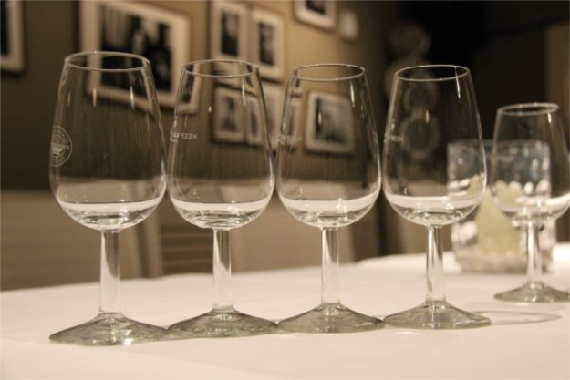 Gin-Tasting Wien – leere Gingläser