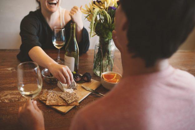 Box für online Events Pärchen bei Weinprobe