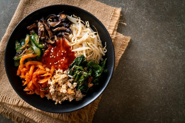 Kochkurs online at Home vegetarisch Bibimbap