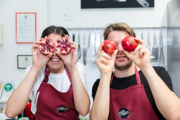 paarkochkurs Wien Granatäpfel Kursteilnehmer