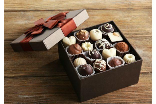 Tasting-Box mit Pralinen