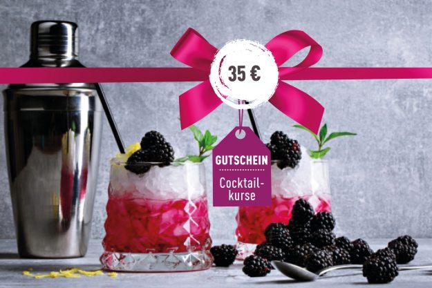 Geschenkgutschein Cocktailkurs – Gutschein