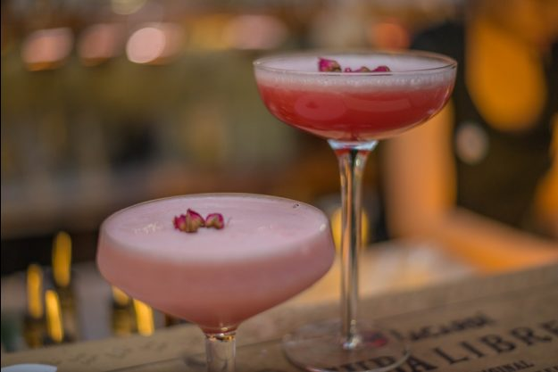 Bar-Hopping Wien – rosa Cocktails
