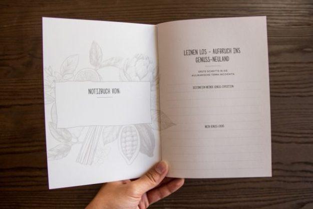 Erlebnis Geschenkgutschein 100 € –Notizbuch für Entdecker