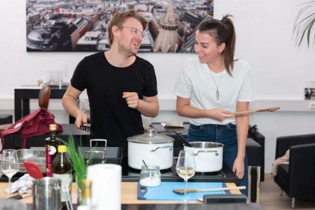 Paarkochkurs Wien Pärchen kocht