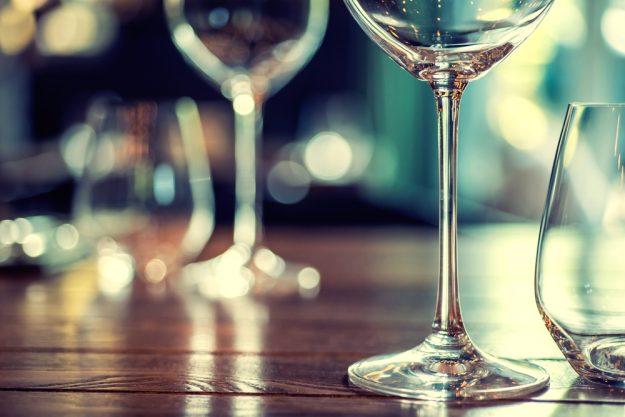Weinseminar Wien – leere Weingläser